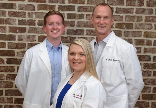 Charlotte eye doctors Michael Watt, Calah Metz, and Chuck Knudson