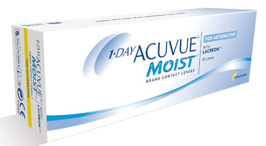 1-Day ACUVUE Moist for Astigmatism contact lenses at Carolinas Vision Group